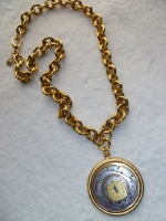 Steam Punk Gold Chain Watch Necklace